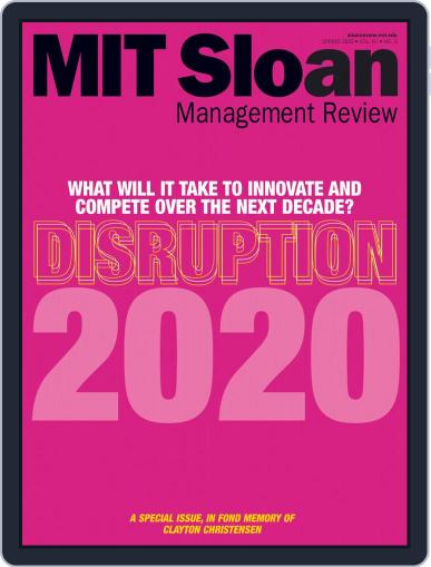 MIT Sloan Management Review March 1st, 2020 Digital Back Issue Cover