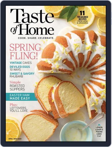 Taste of Home April 1st, 2020 Digital Back Issue Cover