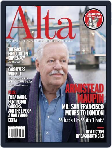 Journal of Alta California March 13th, 2020 Digital Back Issue Cover
