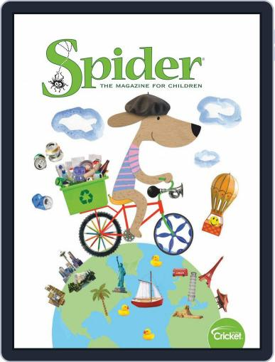 Spider Magazine Stories, Games, Activites And Puzzles For Children And Kids April 1st, 2020 Digital Back Issue Cover