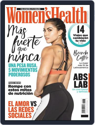 Women's Health México August 1st, 2019 Digital Back Issue Cover