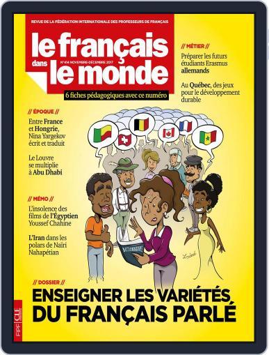 Le Français Dans Le Monde November 1st, 2017 Digital Back Issue Cover