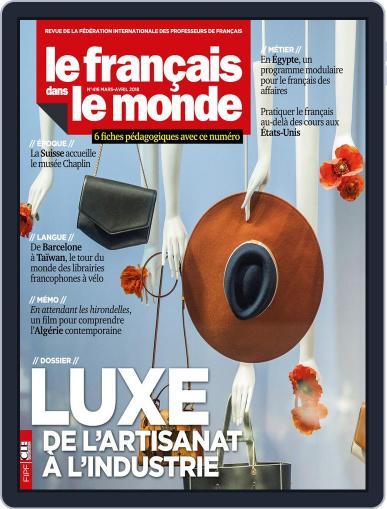 Le Français Dans Le Monde March 1st, 2018 Digital Back Issue Cover