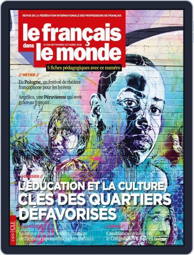 Le Français Dans Le Monde September 1st, 2018 Digital Back Issue Cover