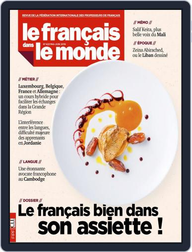 Le Français Dans Le Monde May 1st, 2019 Digital Back Issue Cover
