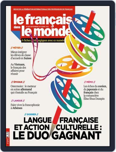 Le Français Dans Le Monde September 1st, 2019 Digital Back Issue Cover