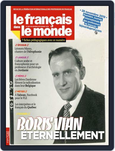 Le Français Dans Le Monde November 5th, 2019 Digital Back Issue Cover