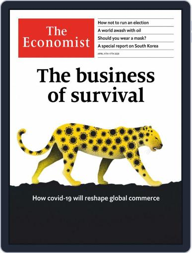 The Economist Continental Europe Edition April 11th, 2020 Digital Back Issue Cover