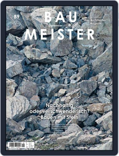 Baumeister September 1st, 2019 Digital Back Issue Cover