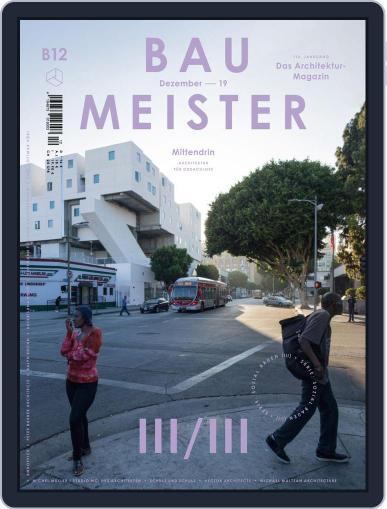 Baumeister December 1st, 2019 Digital Back Issue Cover