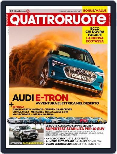 Quattroruote February 1st, 2019 Digital Back Issue Cover