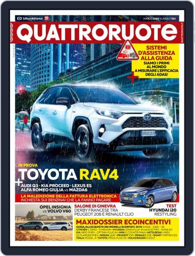Quattroruote March 1st, 2019 Digital Back Issue Cover