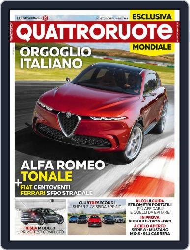 Quattroruote August 1st, 2019 Digital Back Issue Cover