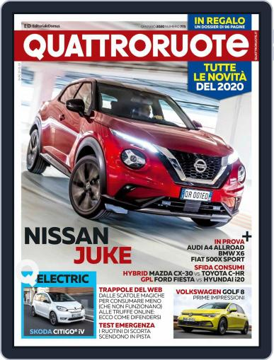 Quattroruote January 1st, 2020 Digital Back Issue Cover