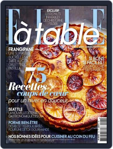 ELLE à Table January 7th, 2016 Digital Back Issue Cover