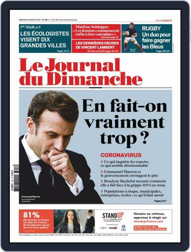 Le Journal du dimanche March 8th, 2020 Digital Back Issue Cover