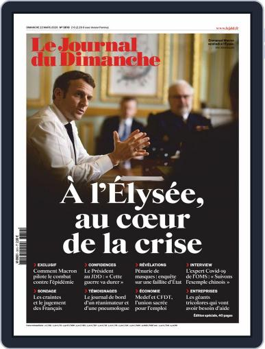 Le Journal du dimanche March 22nd, 2020 Digital Back Issue Cover