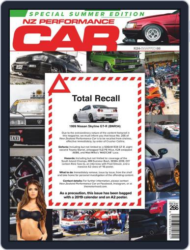 NZ Performance Car February 1st, 2019 Digital Back Issue Cover