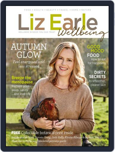 Liz Earle Wellbeing August 16th, 2017 Digital Back Issue Cover