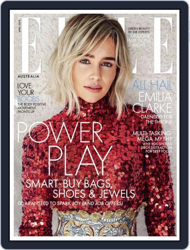 ELLE Australia April 1st, 2019 Digital Back Issue Cover