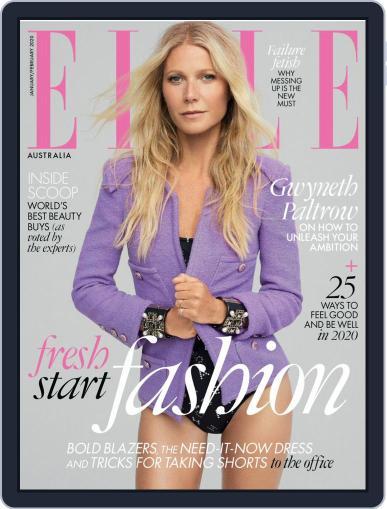 ELLE Australia January 1st, 2020 Digital Back Issue Cover
