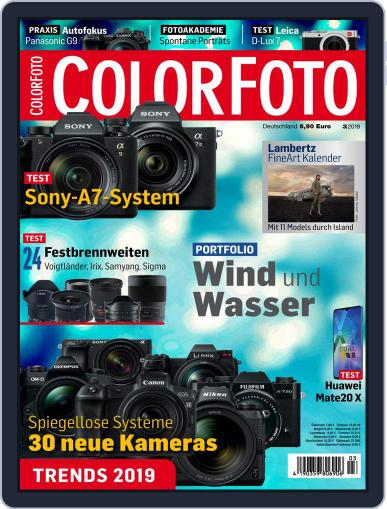 Colorfoto March 1st, 2019 Digital Back Issue Cover