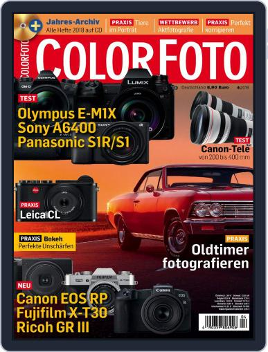Colorfoto April 1st, 2019 Digital Back Issue Cover