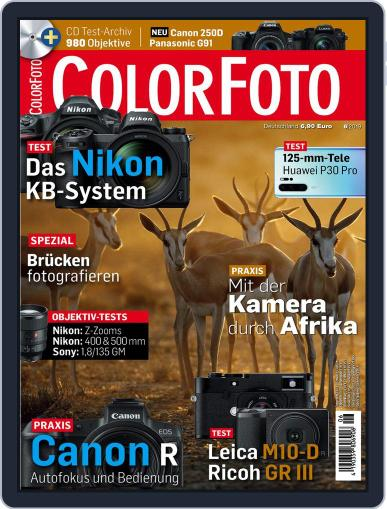 Colorfoto June 1st, 2019 Digital Back Issue Cover