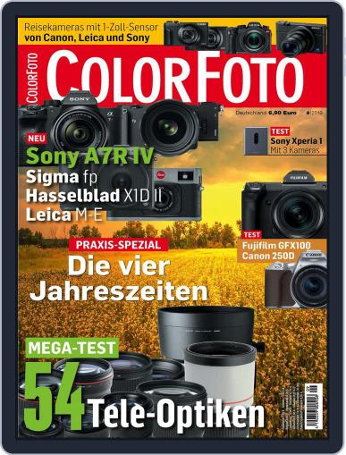 Colorfoto September 1st, 2019 Digital Back Issue Cover