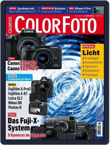 Colorfoto November 1st, 2019 Digital Back Issue Cover