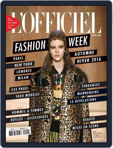 Fashion Week April 21st, 2016 Digital Back Issue Cover