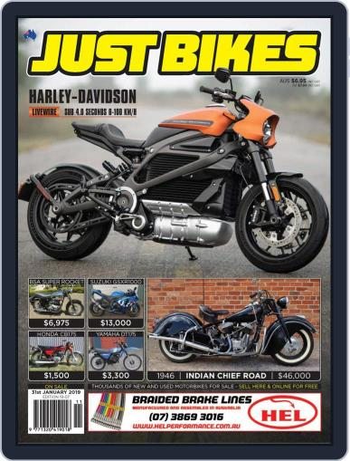 Just Bikes January 18th, 2019 Digital Back Issue Cover