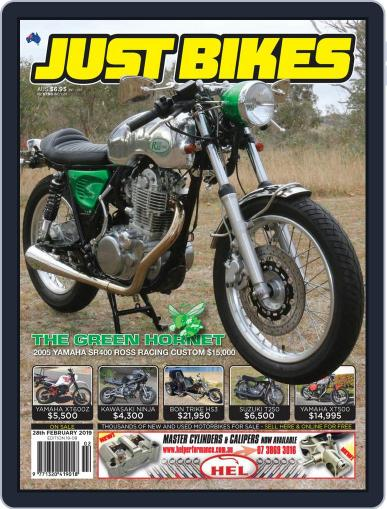 Just Bikes February 28th, 2019 Digital Back Issue Cover