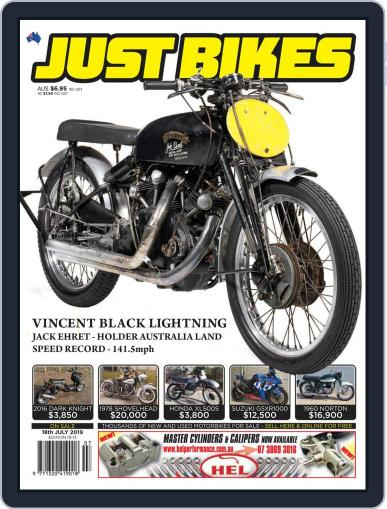 Just Bikes July 18th, 2019 Digital Back Issue Cover