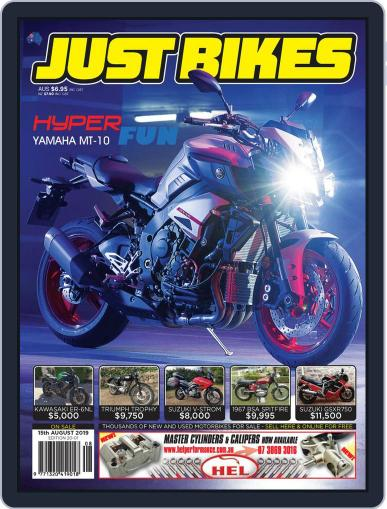 Just Bikes August 15th, 2019 Digital Back Issue Cover
