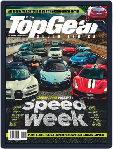 Top Gear South Africa November 1st, 2018 Digital Back Issue Cover