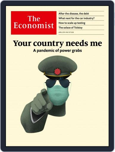 The Economist Continental Europe Edition April 25th, 2020 Digital Back Issue Cover