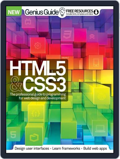HTML 5 & CSS3 Genius Guide August 12th, 2015 Digital Back Issue Cover