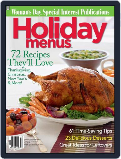 Holiday Menus October 28th, 2008 Digital Back Issue Cover