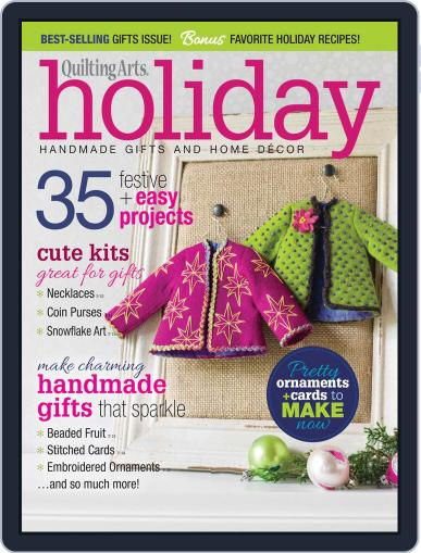 Quilting Arts Holiday August 29th, 2014 Digital Back Issue Cover