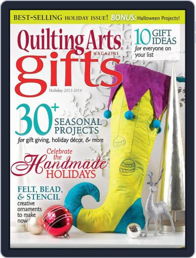 Quilting Arts Holiday August 28th, 2013 Digital Back Issue Cover