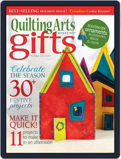 Quilting Arts Holiday September 5th, 2012 Digital Back Issue Cover