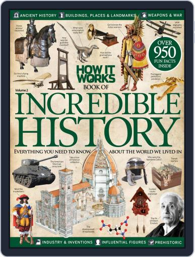 How It Works Book of Incredible History September 1st, 2014 Digital Back Issue Cover