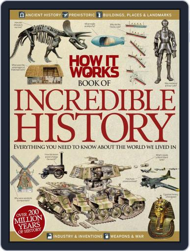 How It Works Book of Incredible History September 1st, 2012 Digital Back Issue Cover