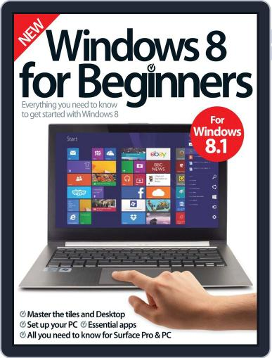 Windows 8 For Beginners October 1st, 2014 Digital Back Issue Cover