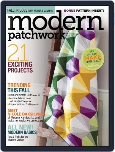 Modern Patchwork October 1st, 2016 Digital Back Issue Cover