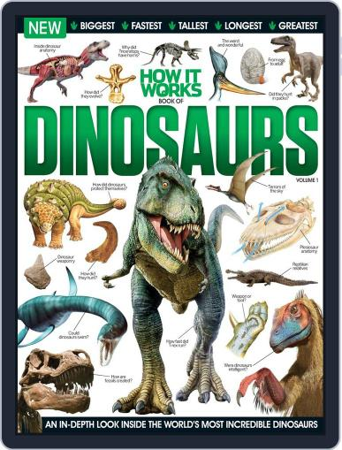 How It Works Book of Dinosaurs June 10th, 2015 Digital Back Issue Cover