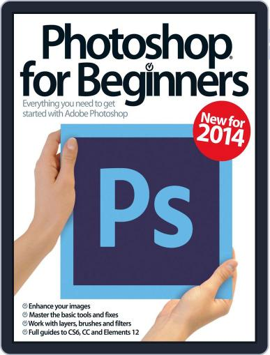 Photoshop for beginners United Kingdom March 1st, 2014 Digital Back Issue Cover