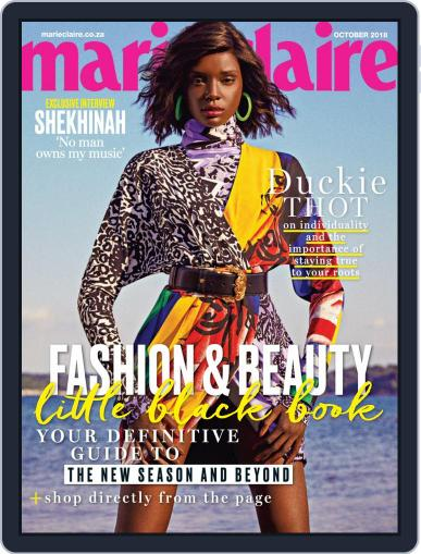 Marie Claire South Africa October 1st, 2018 Digital Back Issue Cover