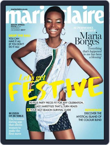 Marie Claire South Africa December 1st, 2017 Digital Back Issue Cover